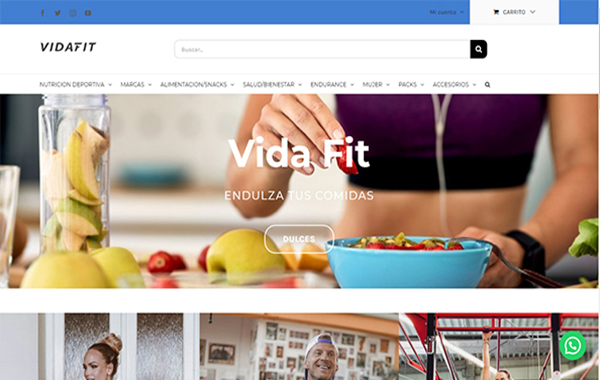 Web Vida Fit Nutrition
